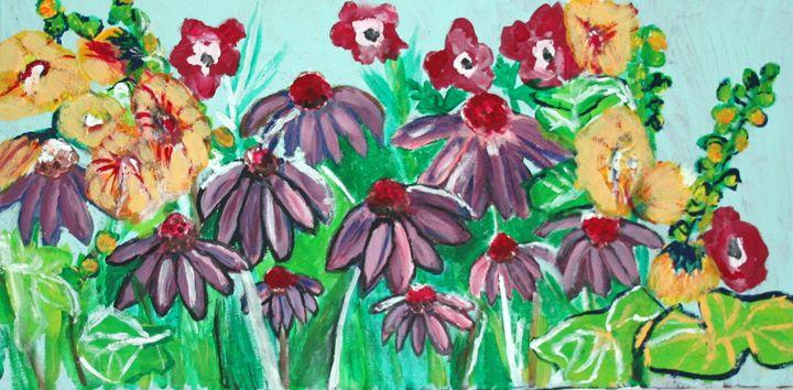 Coneflowers - VickiJane Paintings