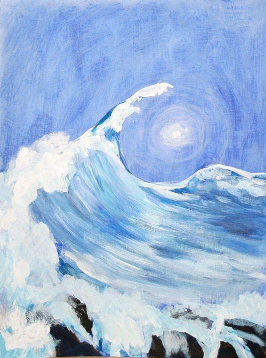 Wave and Moon - VickiJane Paintings