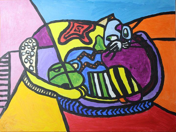 cat - VickiJane Paintings