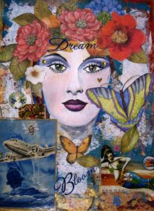 Dream and Bloom Collage art