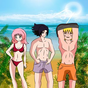 Team 7 at the beach