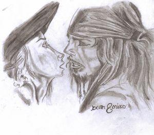 Captain Sparrow and Elizabeth
