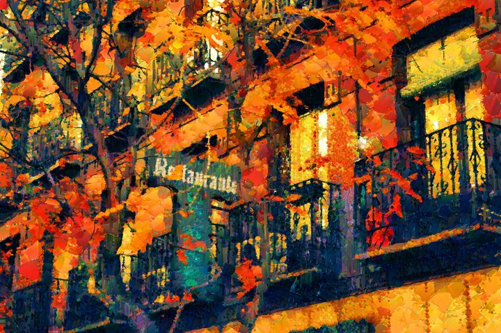 Autumn city - Mai Shisa art