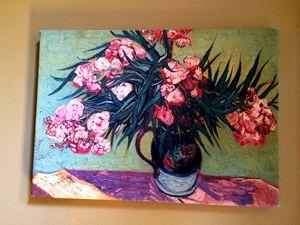 Oleanders and Books by Van Gogh