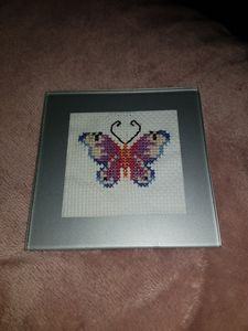 Cross Stitch Coaster!