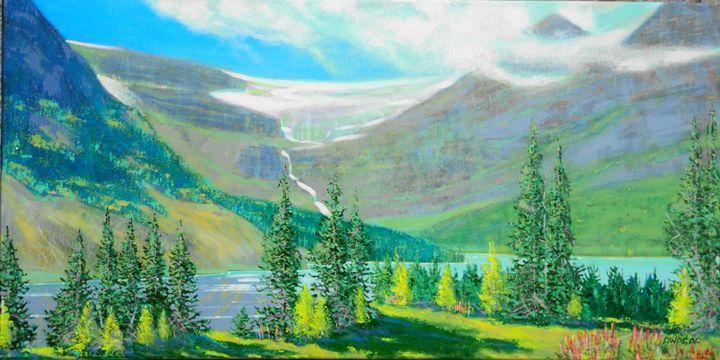 bow valley, bow glacier - artlegacy
