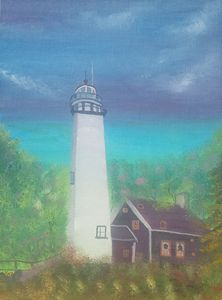 Lighthouse in the forest