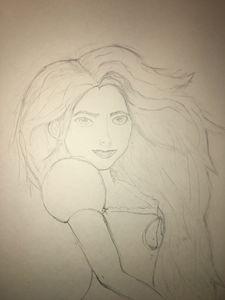 Woman in wind