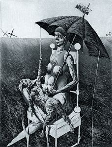 Ор.67. Lady with Umbrella