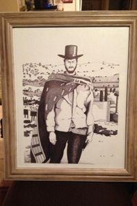 Clint Eastwood Cowboy Ink Portrait