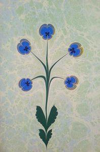 Pansies blue