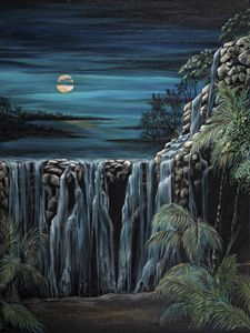 Moon over Mayan waters