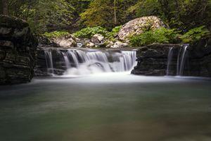 Tolminka alpine river in Slovenia, c