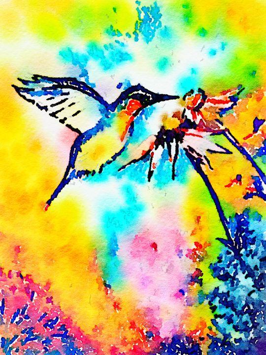 Humming Bird Hovering - Gypsy Heart Gallery