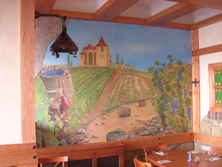 Mural pizzeria left size of the wall - Jaroslav Jerry Svoboda