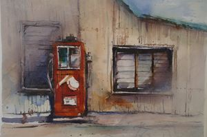 THE OLD PETROL PUMP