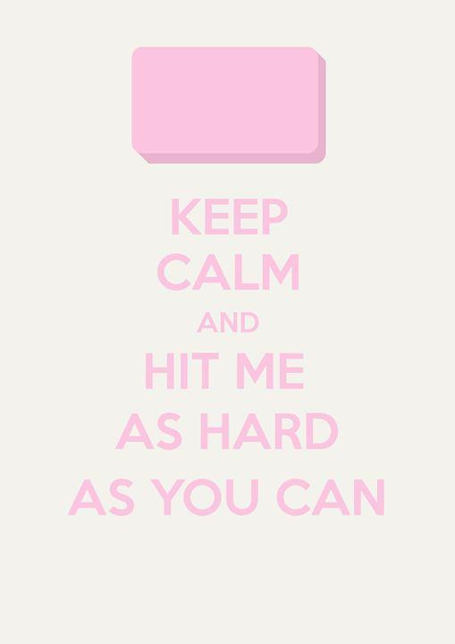Keep Calm (Fight Club) - Original art.