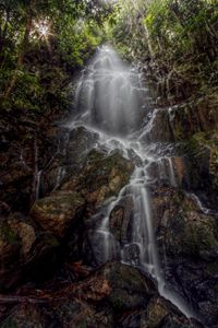 Backstarlight waterfall