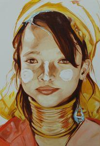 Chiang-Mai tribe girl