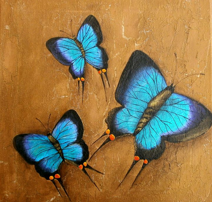 blue morpho - Art by Yany