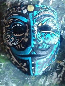hand painted mask custom