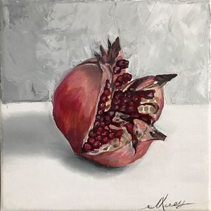 Pomegranate 2, still life
