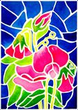 Sweet peas in 'stained glass'.