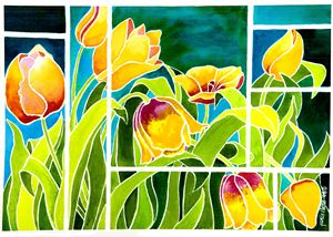 Tulips in 'Stained Glass' - Janis Ilene Images
