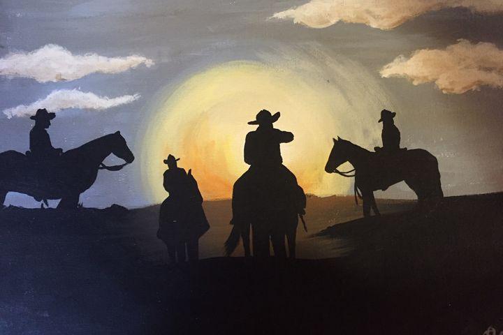 Cowboy Sunset - Terri Price