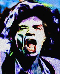 Nixo Jagger Rolling Stones Art 01