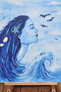 Woman and the sea (mermaid)