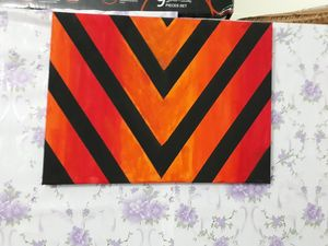 Geometric zebra like hand painting