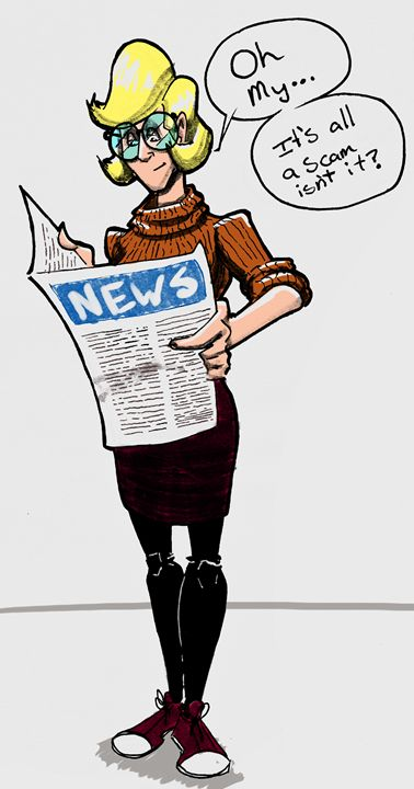 News Girl - Kenan Meyers (InkdKen)