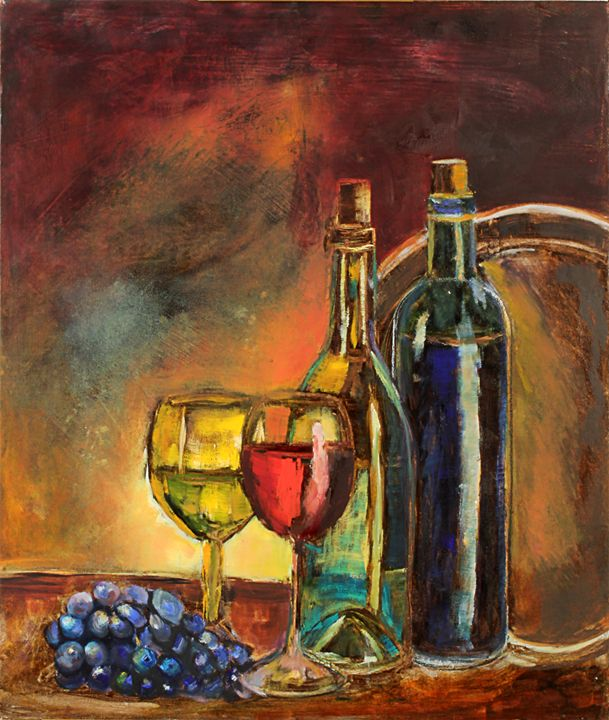 Brunch in the wine country - Spellbound Art by Julia Vigil