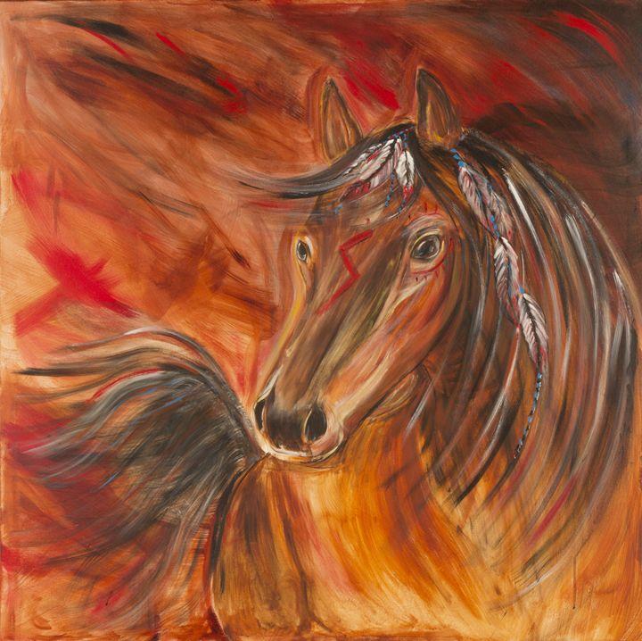 Shape changer horse - Spellbound Art by Julia Vigil