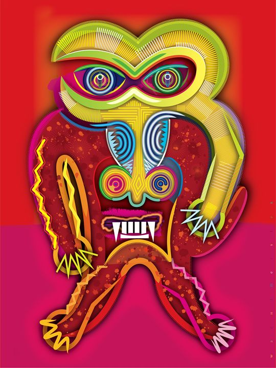 Angry Mandrill | 2012 - Watchmaster´s Works | Vectors by B. Wachtmeister