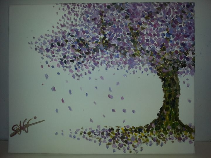 Almendro Original Oil - Susana Martin ArtStudio