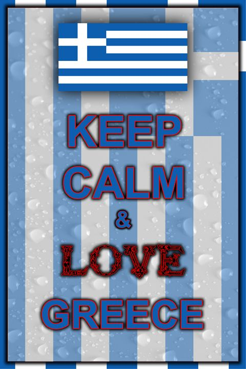 Keep Calm and Love Greece - ArtDesign1978