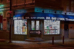 Mr Bar Stool - Christine Mitchell