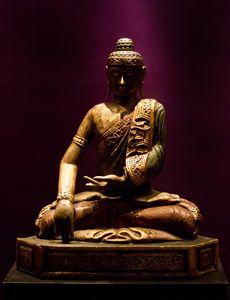 The sitting Buddha.