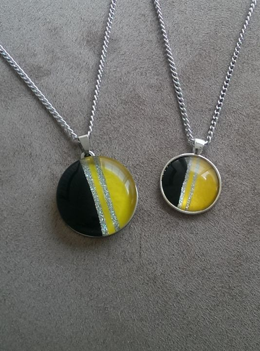 YELLOW BLACKOUT NECKLACE - Dave Bryant Collection