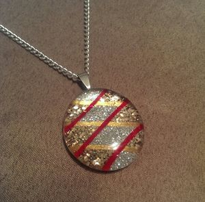 Art To Wear Red KrissKross Necklace