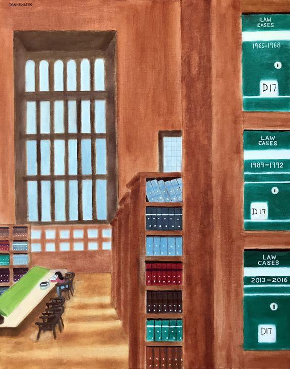 LAW LIBRARY II - Leslie Dannenberg, Oil Paintings