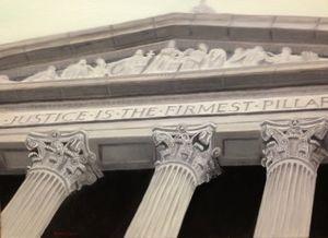 JUSTICE IS THE FIRMEST PILLAR - Leslie Dannenberg, Oil Paintings