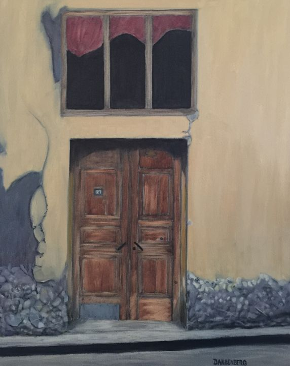 THE YELLOW HOUSE - Leslie Dannenberg, Oil Paintings