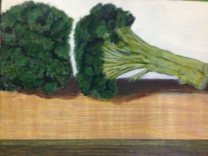 BROCCOLI - Leslie Dannenberg, Oil Paintings