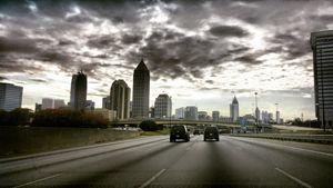 Entering Atlanta on a cloudy day. - Gregorious
