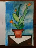watercolor and ink painting unframed