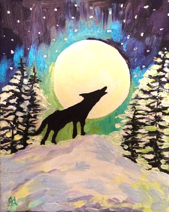 Howling at the Winter Moon - Judydcreates
