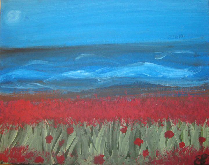 sea and flowers - eva's art